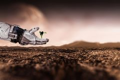 There is life in space. Mixed media Royalty Free Stock Photography