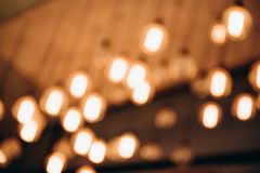 Ight bulbs. There are light bulbs abstract Blurry background, idea, creative Royalty Free Stock Photos