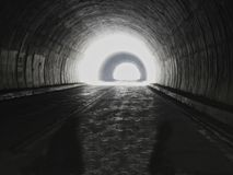 Tunnel light at the end  Stock Photos