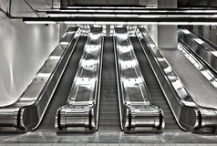 Sets of Working Escalator Stock Image
