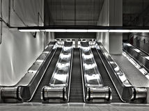 Sets of Working Escalator (wide angle) Stock Image