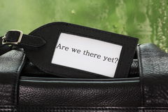 Are We There Yet? Royalty Free Stock Photography