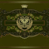 There is luxury vector backgroundwith devil head Royalty Free Stock Photography