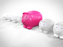 Banks waiting in a line for money Stock Photography