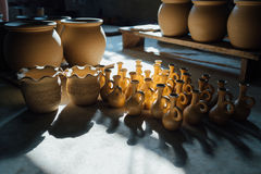 There are many clay pots Royalty Free Stock Photo