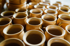 There are many clay pots Stock Photography