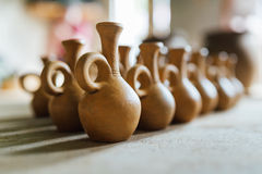 There are many clay pots Royalty Free Stock Photography