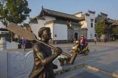 The body sculptures in the town of kuizi. There are many human sculptures in the ancient town of wuhu, anhui Stock Photography