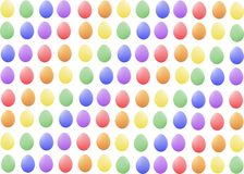 There are many nice pastel  easter eggs Stock Photos