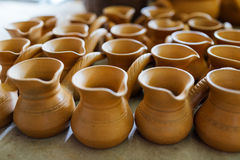 There are many nice terracotta clay pots Stock Photos