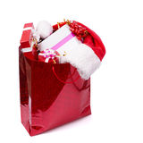 There are many presents in the red box Royalty Free Stock Images