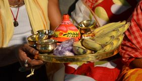 """Traditional Bengali wedding Rituals. There are many rituals of Bengali Wadding in India. It may be different on various locations. But Basic rituals like """"Puja Royalty Free Stock Image"""