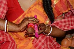 Traditional Bengali marriage and Rituals. There are many rituals of Bengali Wadding in India. It may be different on various locations. But Basic rituals like Royalty Free Stock Photos