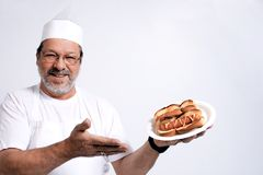There is my hot dog Stock Photo
