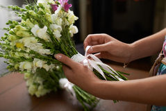 There is nice  wedding bouquet Royalty Free Stock Photo