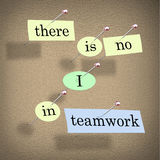There is No I in Teamwork - Bulletin Board Stock Image