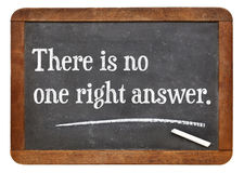 There is no one right answer Royalty Free Stock Image