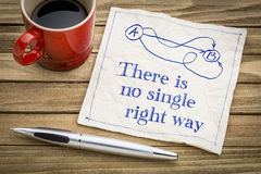 There is no single right way - napkin concept Royalty Free Stock Photography