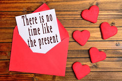 There is no time like the present Royalty Free Stock Images