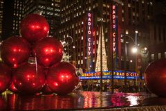 Christmas in New York City. There is no where better in the world to spend Christmas. No City does it better. Than New York City stock photo