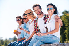 There is nothing but good friends. Royalty Free Stock Photography