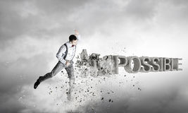 There is nothing impossible . Mixed media Stock Image