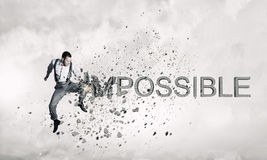 There is nothing impossible . Mixed media Royalty Free Stock Photo