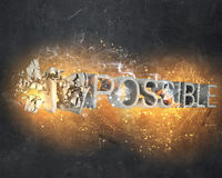 There is nothing impossible Royalty Free Stock Image