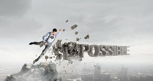 There is nothing impossible Stock Photography