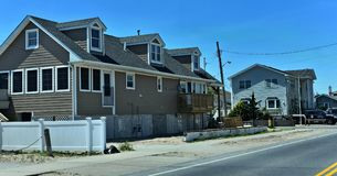 Breezy point queens home new york oceanfront. There is oceanfront homes of Breezy Point, which is a neighborhood in the New York City borough of Queens, located stock images