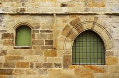 Architectural detail in the historic town Santillana del Mar situated in Cantabria, Spain. There is an old saying that Santillana del Mar is The Town of Three stock photos
