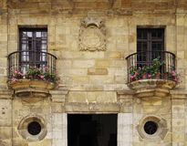 Architecture of the historic town Santillana del Mar situated in Cantabria, Spain. There is an old saying that Santillana del Mar is The Town of Three Lies stock images