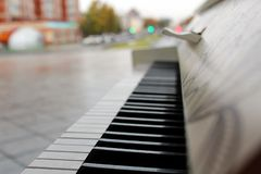 There is a piano outside in the park royalty free stock photos