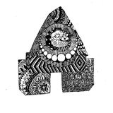Absract zentangle picture for fun. There is a picture of zentangle art. Nice picture in jpg format Stock Image
