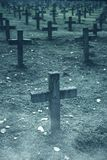 There are plenty of tombstones in the cemetery Royalty Free Stock Photo