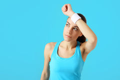 There is power! Happiness and fatigue after exercise Stock Photo