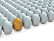 There is a promising one, in many eggs. Stock Photography
