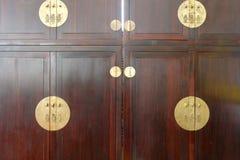 Chinese rosewood wardrobe, adobe rgb Stock Photography