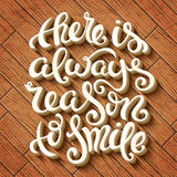 There is always reason to smile Royalty Free Stock Photos