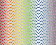 Abstract geometric pattern in colorful rainbow gradient with thin white lines on metallic gray color - Vector illustration. There are red, orange, yellow, green stock illustration