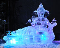 There's No Place Like Om Ice Sculpture Stock Photos