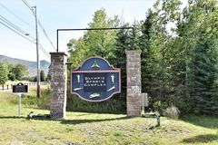 Olympic sports complex sign  lake placid usa Royalty Free Stock Photos
