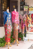 There are some different style of nyonya costumes selling at Jonker Street,Malacca. Stock Photography