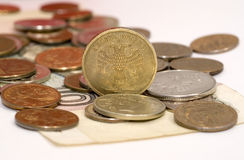 Ruble coins. There are some ruble coins close up Royalty Free Stock Photos