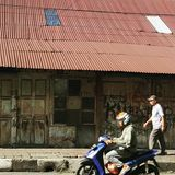 The Oldtown of Bogor, West Java Indonesia. There are still many old houses and shops in use in this little town stock photo