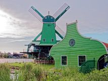 Windmills in the Netherlands - the same ones that served the great Dutch landscape painters for their wonderful works of art. There are still remarkably Royalty Free Stock Photography