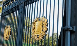 Arlington National Cemetery Gate, Virginia, USA. There are thousands of graves at Arlington National Cemetery, USA. America`s Shrine to those who honorably Stock Photography