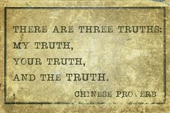 Three truth print Royalty Free Stock Images