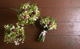 There are three wedding bouquets Royalty Free Stock Images