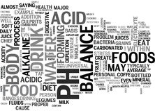 Is There A Universal Diet For Proper Body Balance Ph Text Background Word Cloud Concept vector illustration